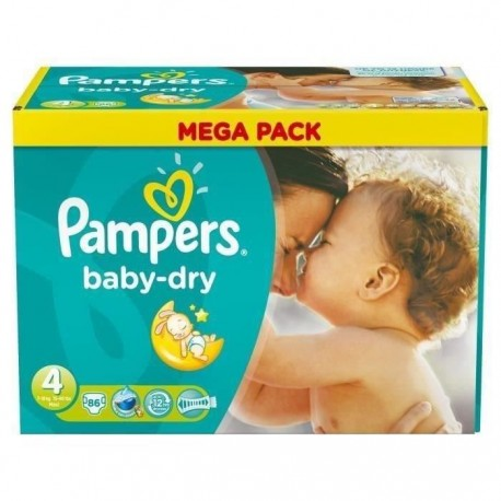 86 Couches Pampers Baby Dry Taille 4 Moins Cher Sur Couches Center