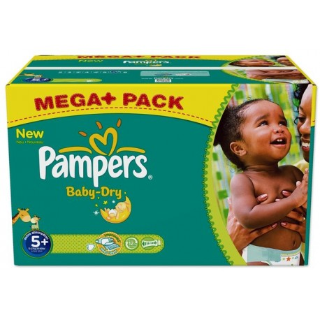 240 couches pampers baby dry taille 5 pas cher sur - Couche pampers taille 5 pas cher ...