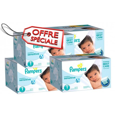 507 couches pampers new baby sensitive taille 1 moins cher sur couches center - Couches pampers taille 1 ...