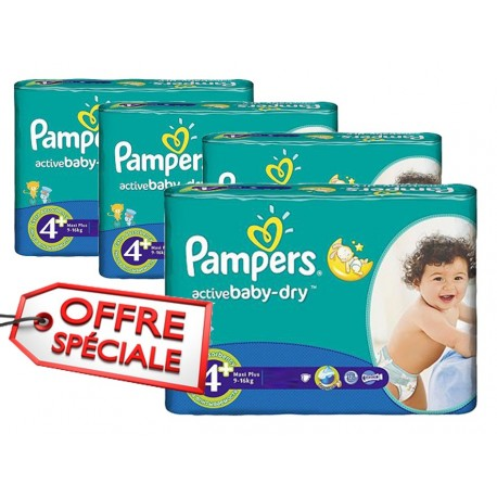 742 couches pampers active baby dry taille 4 petit prix. Black Bedroom Furniture Sets. Home Design Ideas