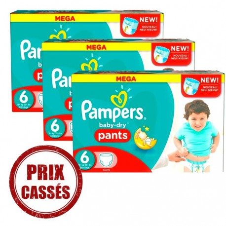105 couches pampers baby dry pants taille 6 pas cher sur - Prix couches pampers baby dry taille 2 ...