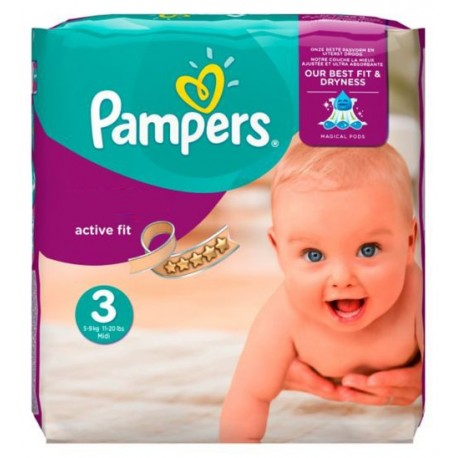 62 couches pampers active fit taille 3 pas cher sur couches center - Couche pampers taille 3 pas cher ...