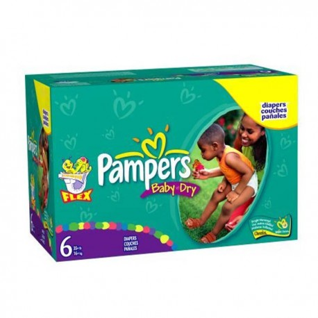 124 couches pampers baby dry taille 6 pas cher sur couches center - Couches pampers pas cher taille 2 ...