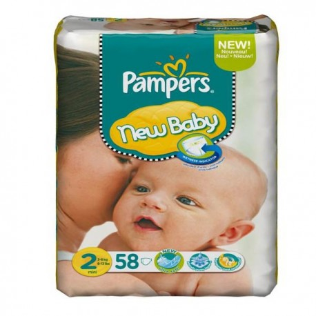 58 Couches Pampers New Baby Taille 2 à Petit Prix Sur Couches Center